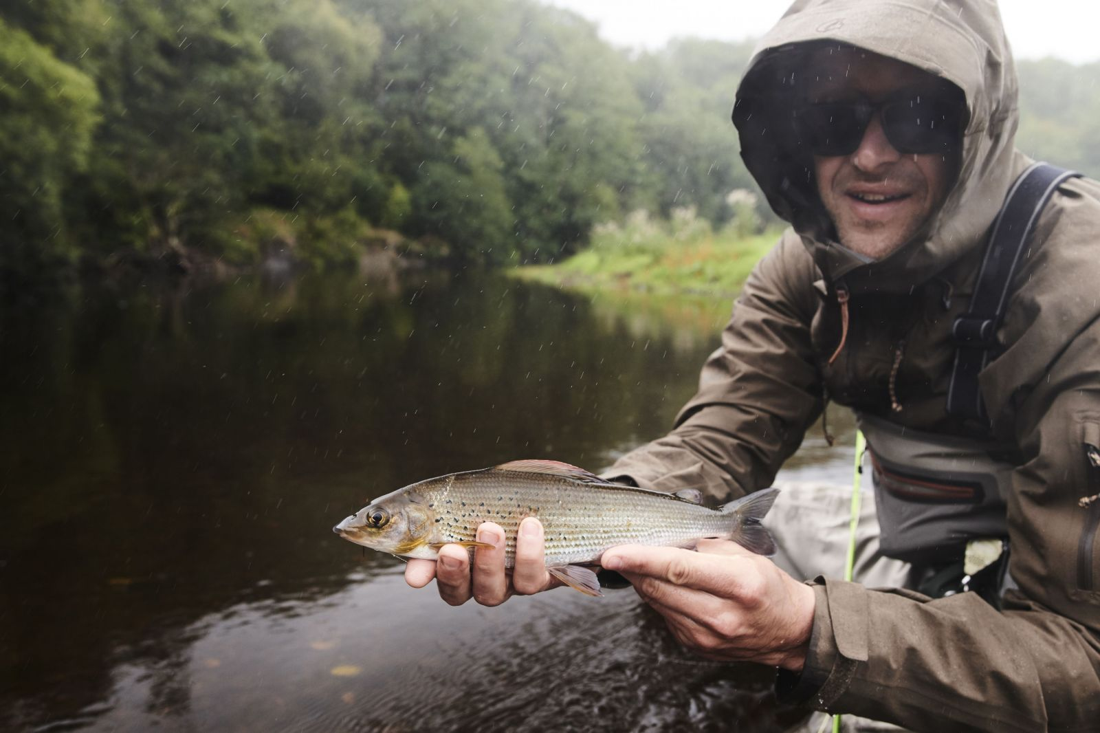 Photographer Ben Etridge with grayling